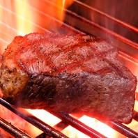豪快に炙る黒毛和牛 いちぼステーキは圧巻!