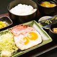 ≪朝定食≫ 目玉焼き定食