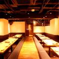 最大96名様のご宴会も可能!掘りごたつ大広間席のゆったりお席でお食事を!貸切宴会のご利用もお気軽にお問い合わせください。