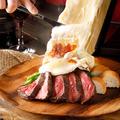 料理メニュー写真季節野菜と国産牛ステーキのグリル