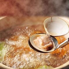 料理メニュー写真三重桑名産「活はまぐりのしゃぶしゃぶ鍋」