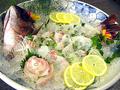 料理メニュー写真さらに「白身魚の姿造り」をプラスいたします。