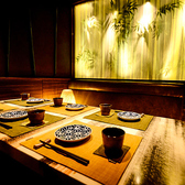 竹林をイメージした空間は、プライベートな飲み会にもぴったり!完全個室となっておりますので周りを気にすることなくお楽しみ頂けます。