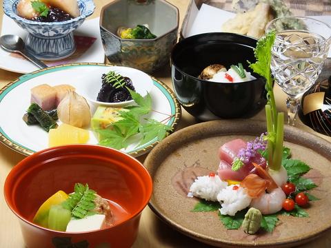 旬の厳選食材を匠の技で調理!食事メインでも愉しめます!!