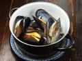 料理メニュー写真国産ムール貝の白ワイン蒸し