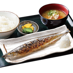 秋刀魚と豚汁定食