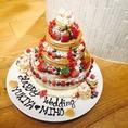 【特製パンケーキでお祝い】お誕生日や記念日、ご結婚などお祝いなら何でもOK!こんな可愛い特製パンケーキが出てきたら、ゲストも大喜び間違いなし♪ご予約時にお申し付けください。