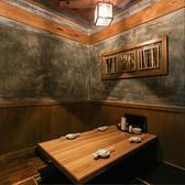 4名個室×2部屋、仕切りを外せば12名まで入れます♪接待はもちろん、デートにも使えます♪