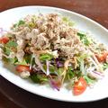料理メニュー写真ほぐしササミのバンバンジーサラダ(S)