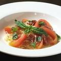 料理メニュー写真生ハムとトマトの冷製カッペリーニ