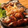 【炭】炭火焼料理が自慢の居酒屋。普通の居酒屋では楽しめないコスパ抜群の料理の数々…焼き鳥は190円(税別)~!こだわりの焼き鳥だけでなく、新鮮刺身、炭焼き野菜まで毎日来ても飽きません!天満の夜に彩りを。