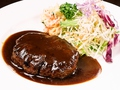 料理メニュー写真和牛100% ハンバーグステーキ