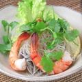 料理メニュー写真海老と春雨のサラダ