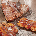 人気のステーキは、スタッフが焼きあげて、あつあつの状態でご提供いたします♪
