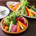 こだわりの有機野菜&旬の食材!素材そのものの美味しさを感じられるサラダ、有機野菜盛りもおすすめ☆