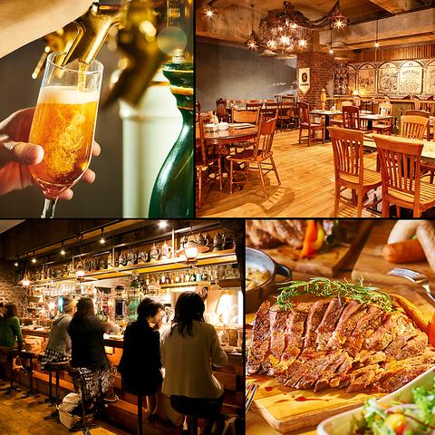 世界10ヵ国26種のビールとビールに合う料理を楽しめる海外の様なビアホール♪