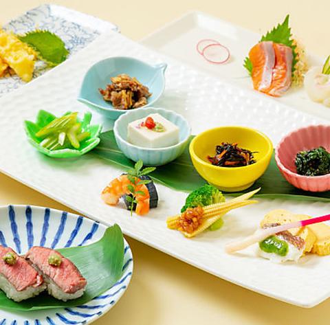 テイスティングコース(ウメビーフお寿司2貫付き)