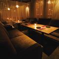 雰囲気抜群♪8名様から最大12名様まで対応可能なカーテンソファ個室は各種宴会にオススメです★
