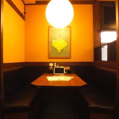 仕切りのあるボックスシートでゆったりとお食事はいかがでしょうか?