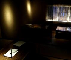 別アングルの2階掘りごたつ席。画像奥のすだれの窓は開放し換気しております。