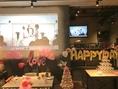 【貸切・結婚式二次会】DVDや映像などもOK!!大型スクリーン完備!!