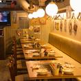【6名様×2】テーブル席にソファー席がございます!各種宴会にご利用頂けるテーブルやソファ席などご用意しております!