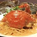 料理メニュー写真浜名湖渡りカニのトマトクリームパスタ