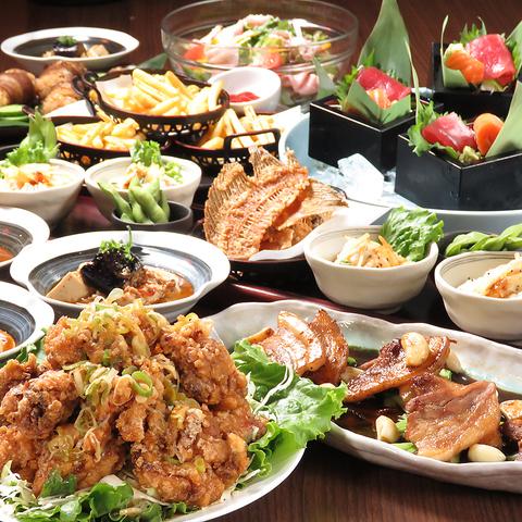 【圧巻!山盛りタレザンギコース】 料理9品2時間[飲放] 3500円(税込)