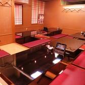 掘り炬燵席は1テーブルが2名様~4名様でそれ以外は4名様~6名様の掘り炬燵テーブルです!