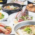 料理メニュー写真【豪華刺盛り…蟹ともち豚のしゃぶしゃぶコース】 4500円 2時間飲み放題付き