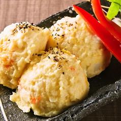 料理メニュー写真サバ燻製のポテトサラダ