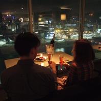 雰囲気を盛り上げる夜景★ゆったり寛げるソファー♪