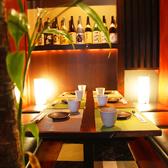 最大6名様までのゆったりとしたテーブルタイプの個室となります。ご接待、少人数でのご宴会、会社での飲み会にも最適。4名様以下、6名様以上のお客様もご相談頂けます。