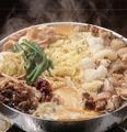 料理メニュー写真チーズ肉なべ