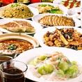 忘年会コースはもちろんアラカルト利用も大歓迎◎鉄鍋棒餃子、黒酢の真っ黒スブタ、麻婆豆腐、担々麺など個性にあふれた本格お料理の数々をお楽しみ下さい♪