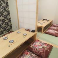 2名様より使える個室。3Fにもお部屋ございます。