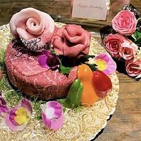 お誕生日のお祝いに…肉ケーキ3000円