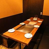 半個室テーブル席。4~6名様少人数でのパーティに◎