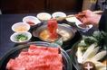 しゃぶしゃぶ食べ放題コースは大人気です!本格和牛を思う存分、堪能できます!