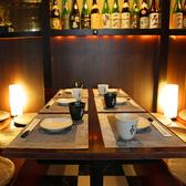 6名様までのテーブルタイプの個室となります。少人数宴会や、女子会、誕生日会などのご宴会にも最適です。九州地酒を眺めながら飲むお酒は格別です♪個室のみのご利用も可能ですので、お気軽にご相談ください!