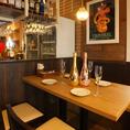 【4名テーブル】4名様までご利用いただけるテーブルのお席!最大8名様までご案内可能です!