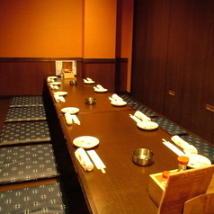 10名様まで収容可能な個室!各種宴会に!掘りごたつ席です。