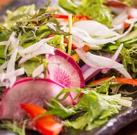 京都農園から届けられる旬のお野菜の創作料理が自慢♪