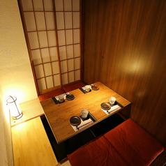 2~4名様向け個室♪ゆっくりとお寛ぎ頂きながらお食事をお楽しみ頂けます☆また、個室を繋げることにより大人数でのご宴会も開催可能です◎