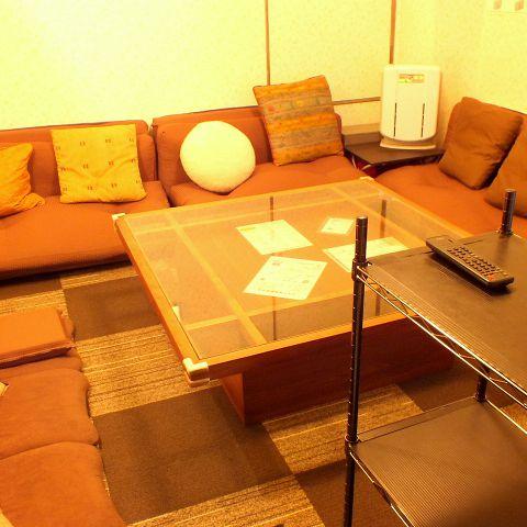 女性専用のお部屋は座敷型の広々空間!ゆったりスペースで盛り上がれる♪禁煙ルームなので煙草が苦手な方にも安心