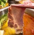 料理メニュー写真ブランド豚しゃぶ鍋