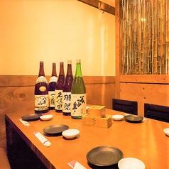3名~4名様用完全個室プレミアム飲み放題は、店内のお飲み物全て飲み放題。日本酒や焼酎も可能。