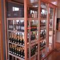 ウォークインワインセラー お好きなワインをお選びください。