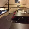 2Fの座敷。最大20名様までこちらでお食事が可能となっております。ロフト風の座敷になっており、お洒落な雰囲気も楽しんで頂けるお席となっております。