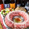 松坂牛、松坂豚、錦爽鶏など、三重県産のブランド食材を使った創作料理が自慢です。当店オリジナルの蒸し鍋を使い素材の味を活かしております。
